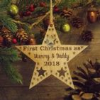 First 1st Christmas as Mummy & Daddy Personalised Star Decoration Gift